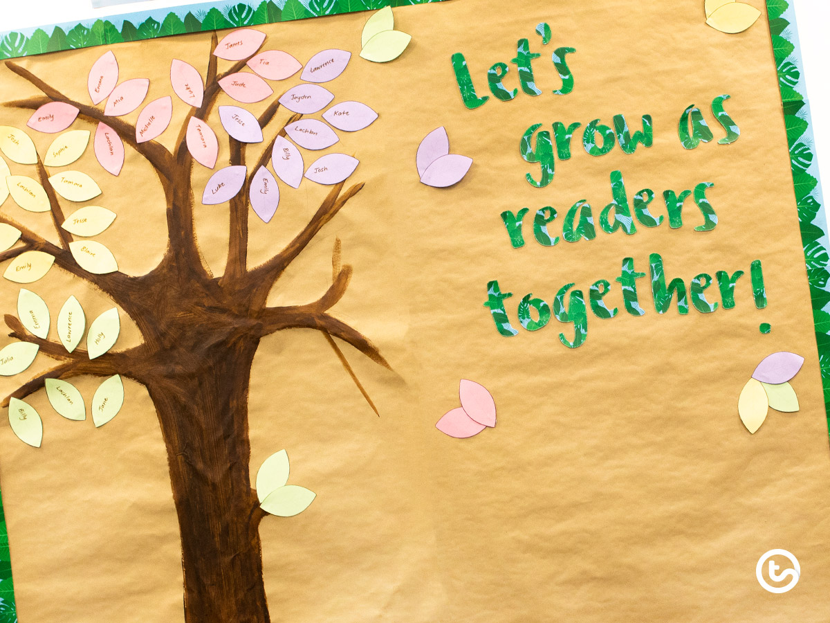 Home reading classroom display idea