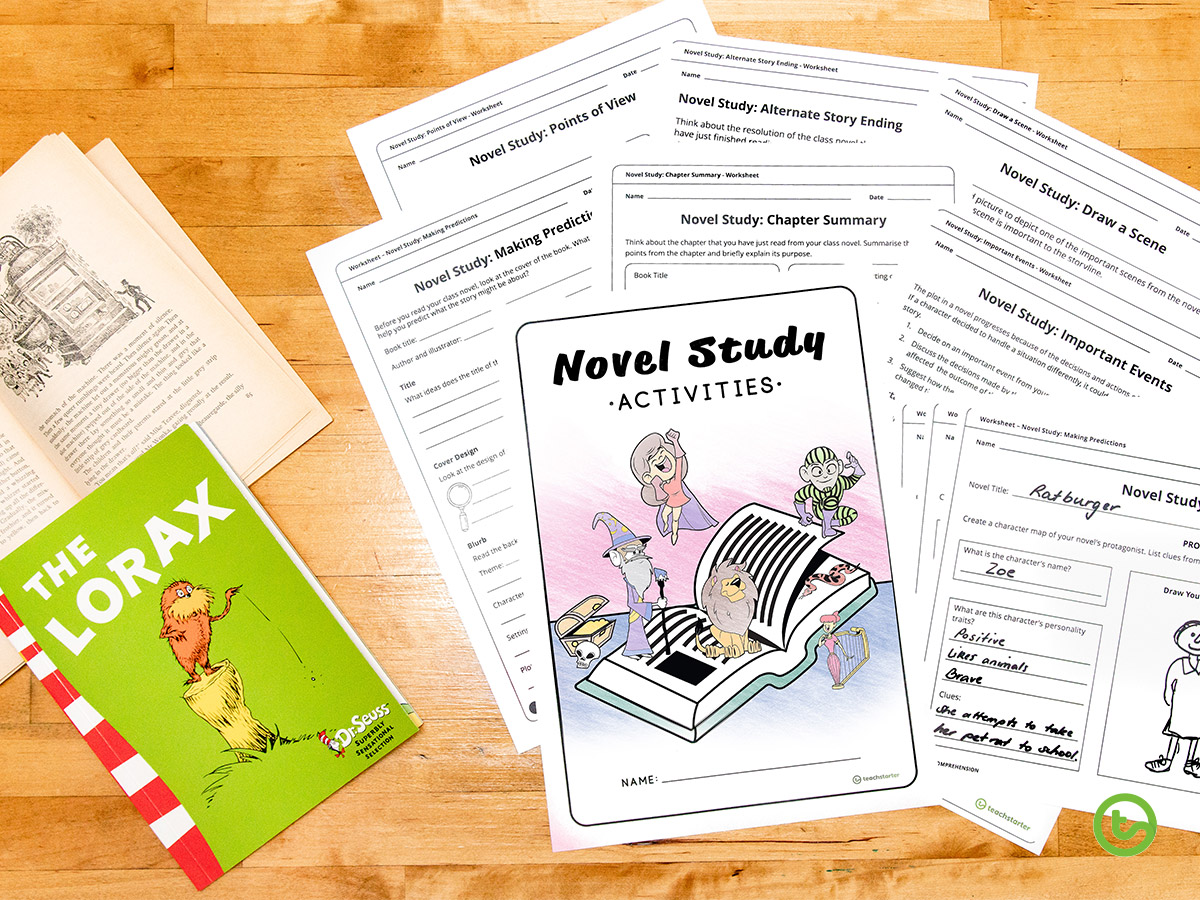 Library activities for kids - shared novel study