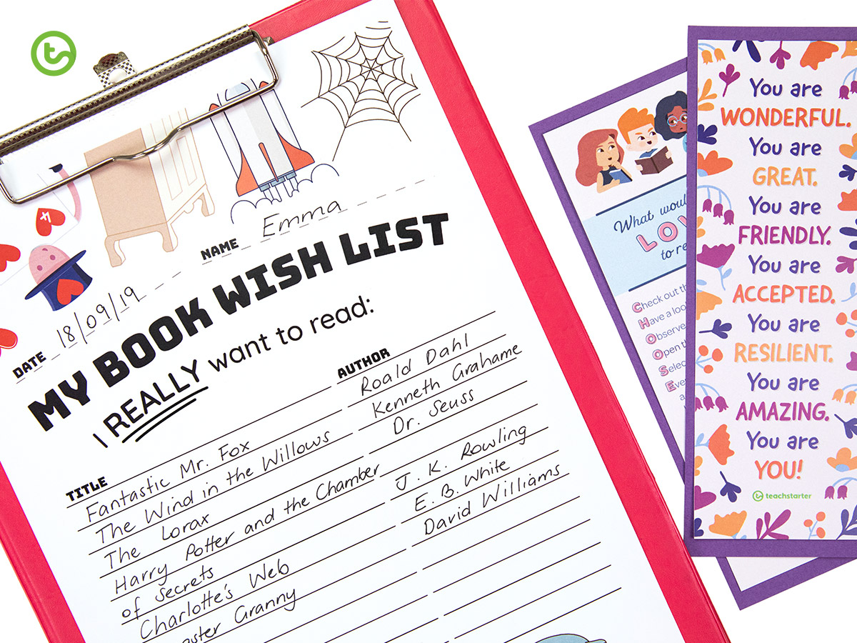 Library Activities for Kids - Making the most of library time - make a book wish list