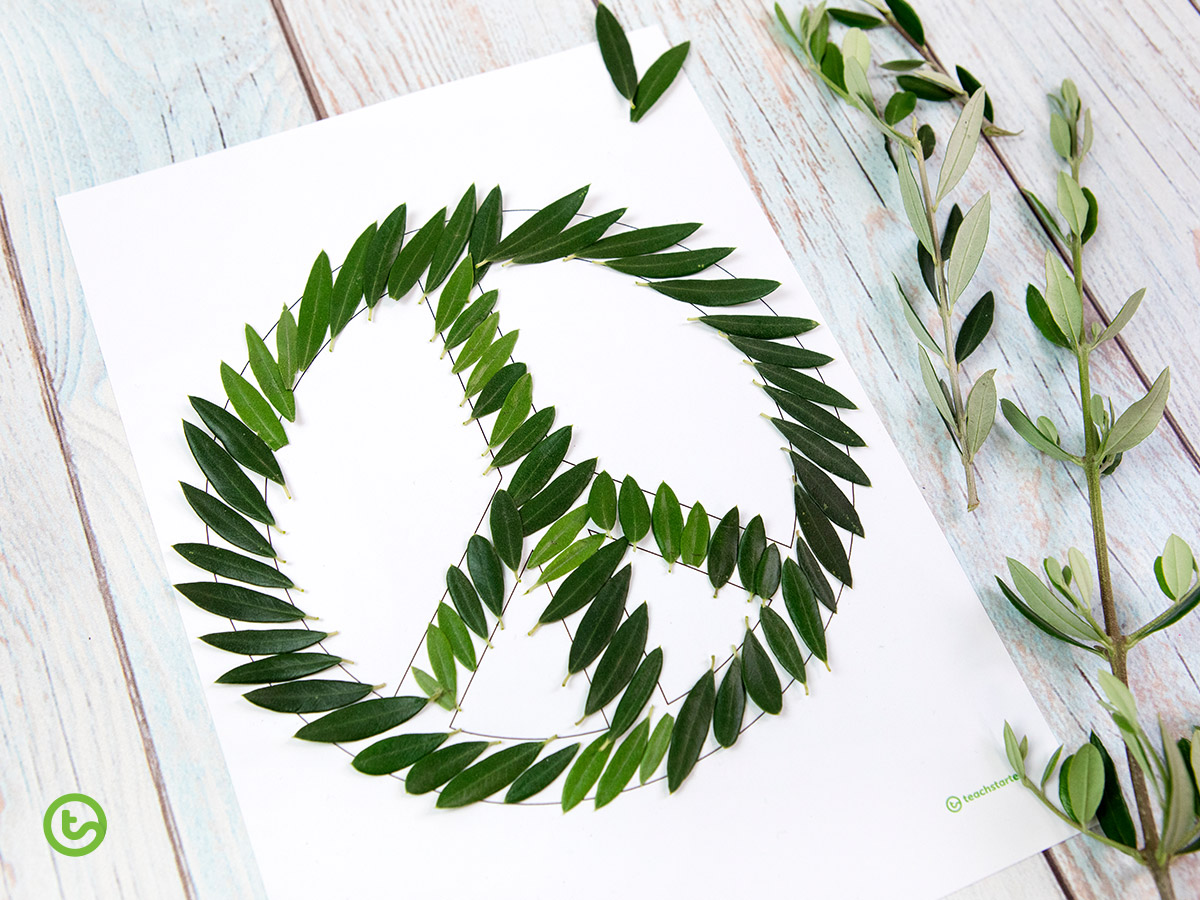 Peace Day craft idea for kids