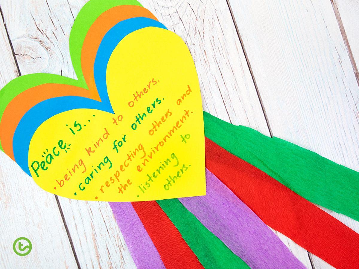 Peace day craft activity for students
