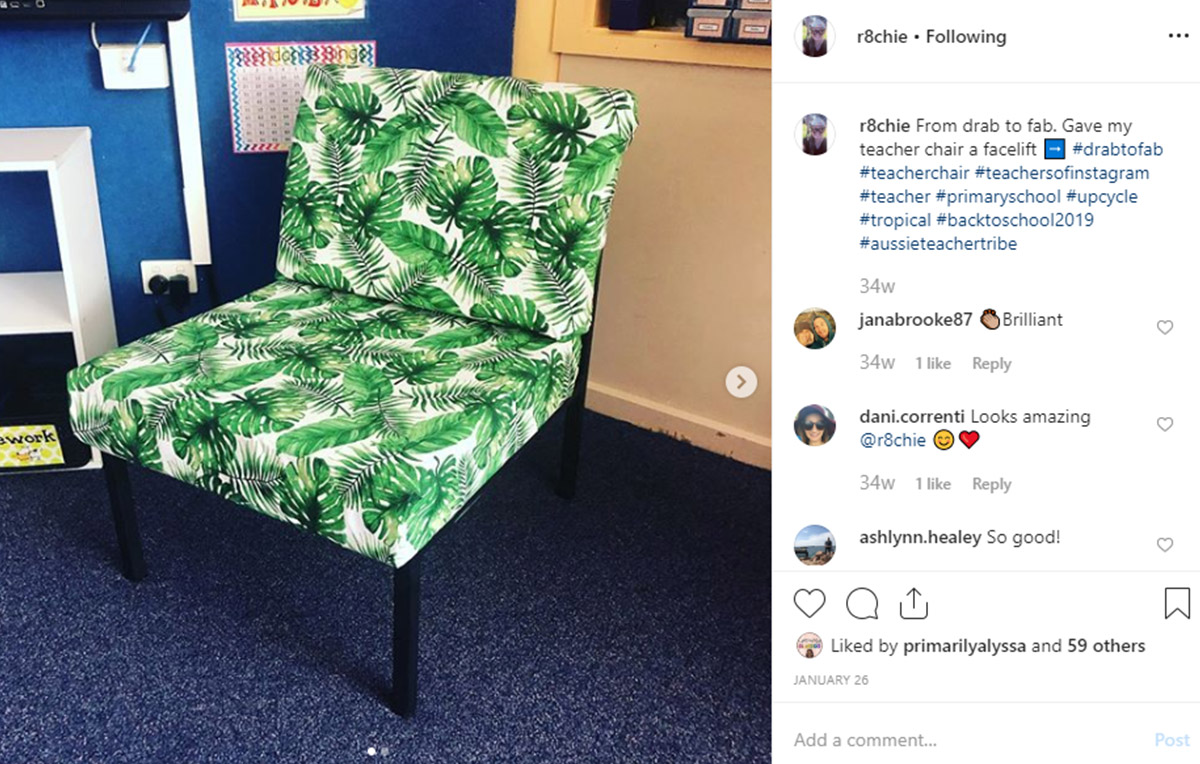 Teacher chair re-vamp