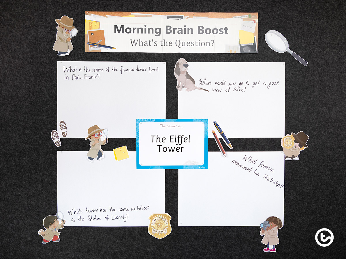 Interactive Classroom Display - Morning Brain Boost