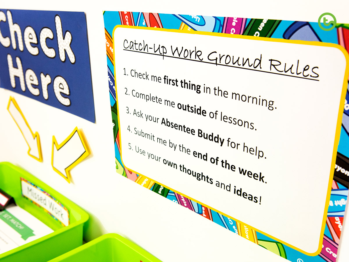 Catch up on missed work - set some ground rules