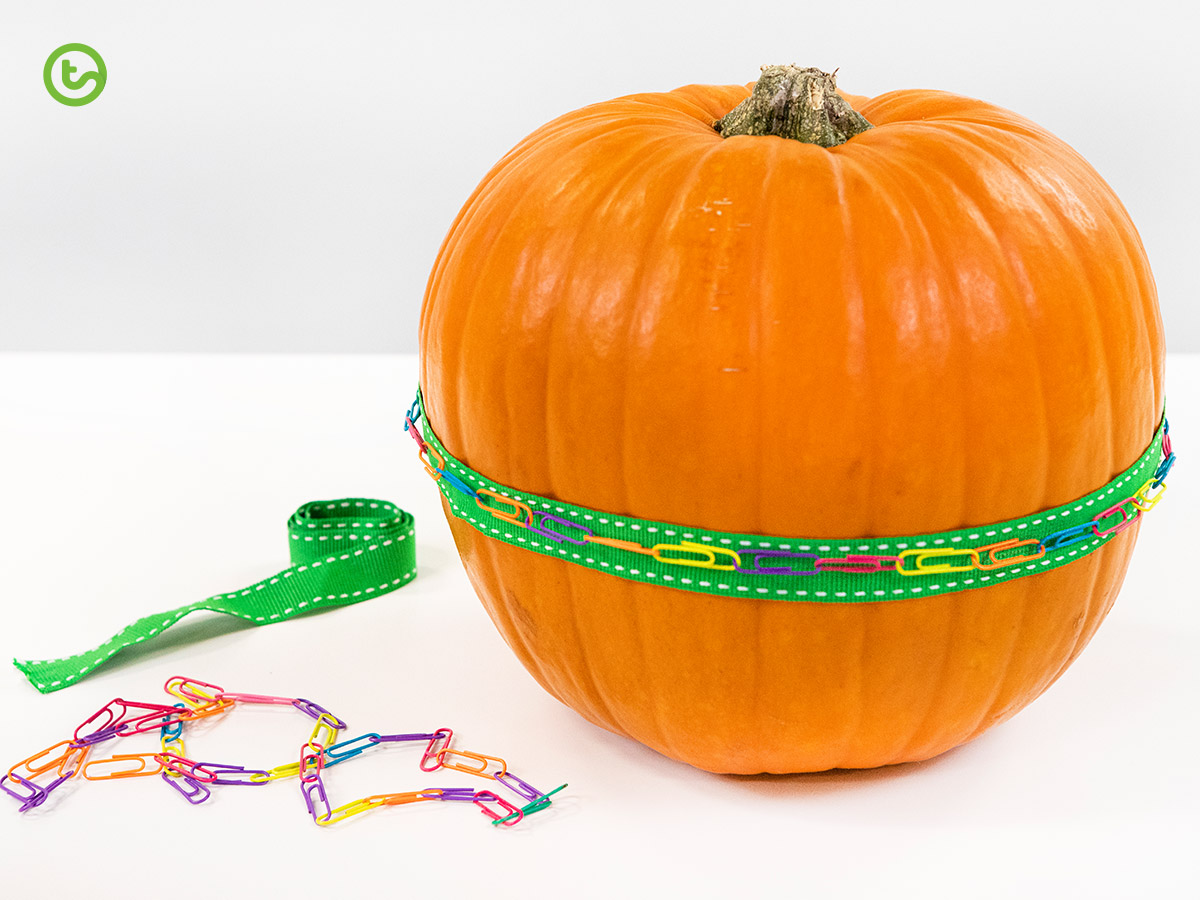 a Halloween Math activity that explores circumference.
