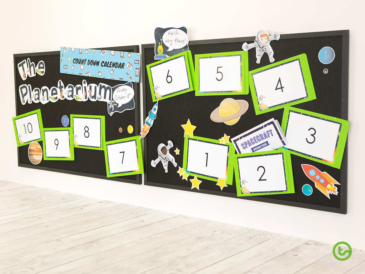 Interactive Classroom Display - Countdown Calendar