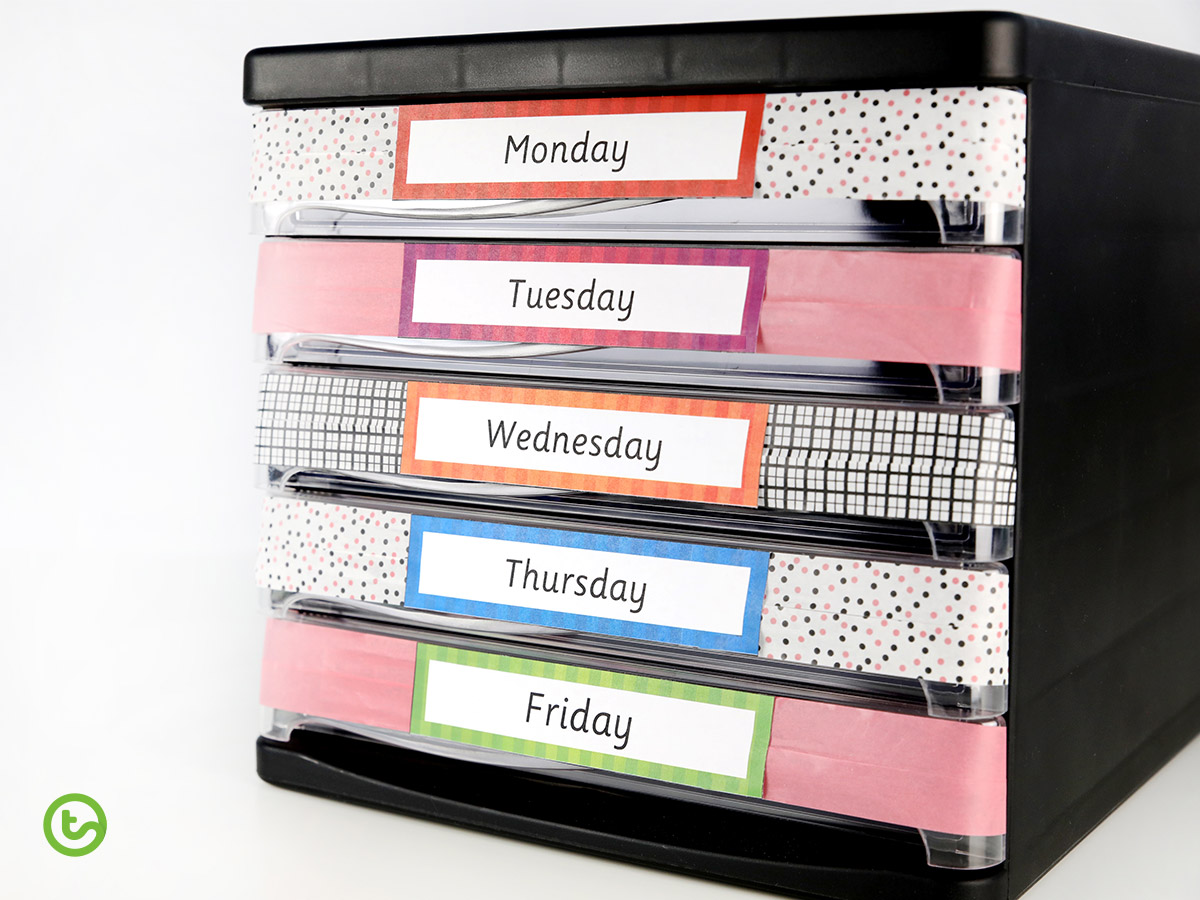 Helping Students Catch Up on Missed Work - Create a filing system to help students