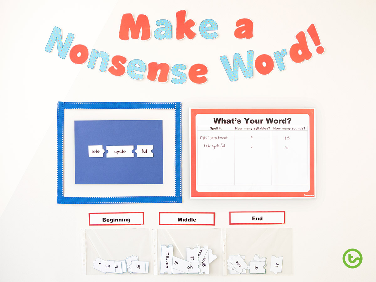 How to Make an Interactive Bulletin Board Display - Make a Nonsense Word