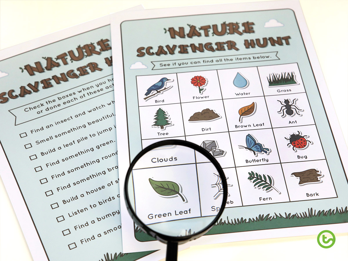 Using Natural Resources in the Classroom - Scavenger hunt
