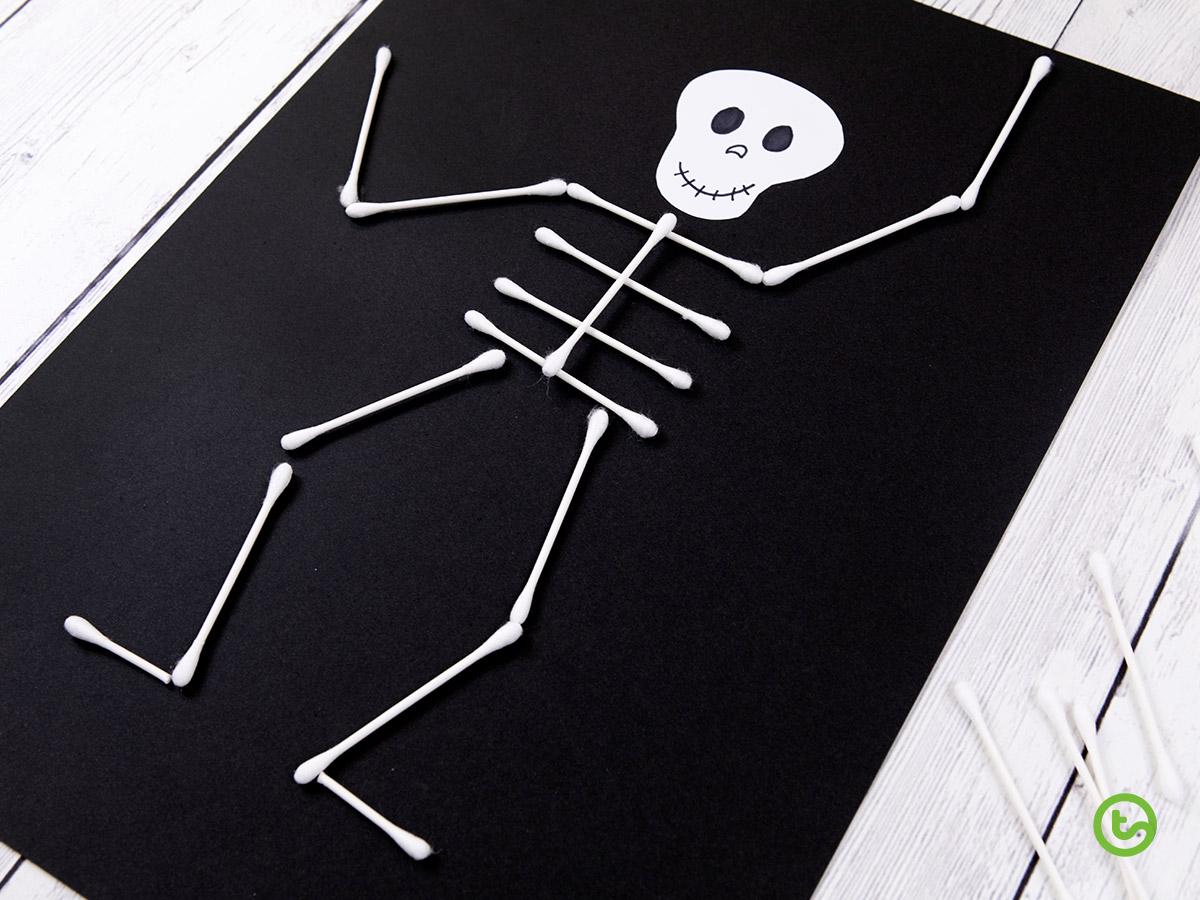 Q-tip skeleton craft