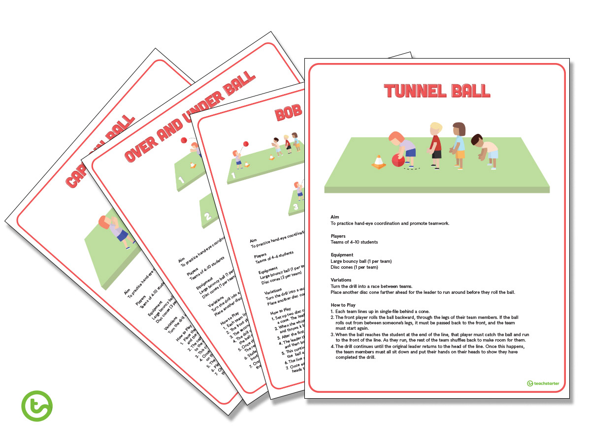 Ball Games for Kids - Drill Cards