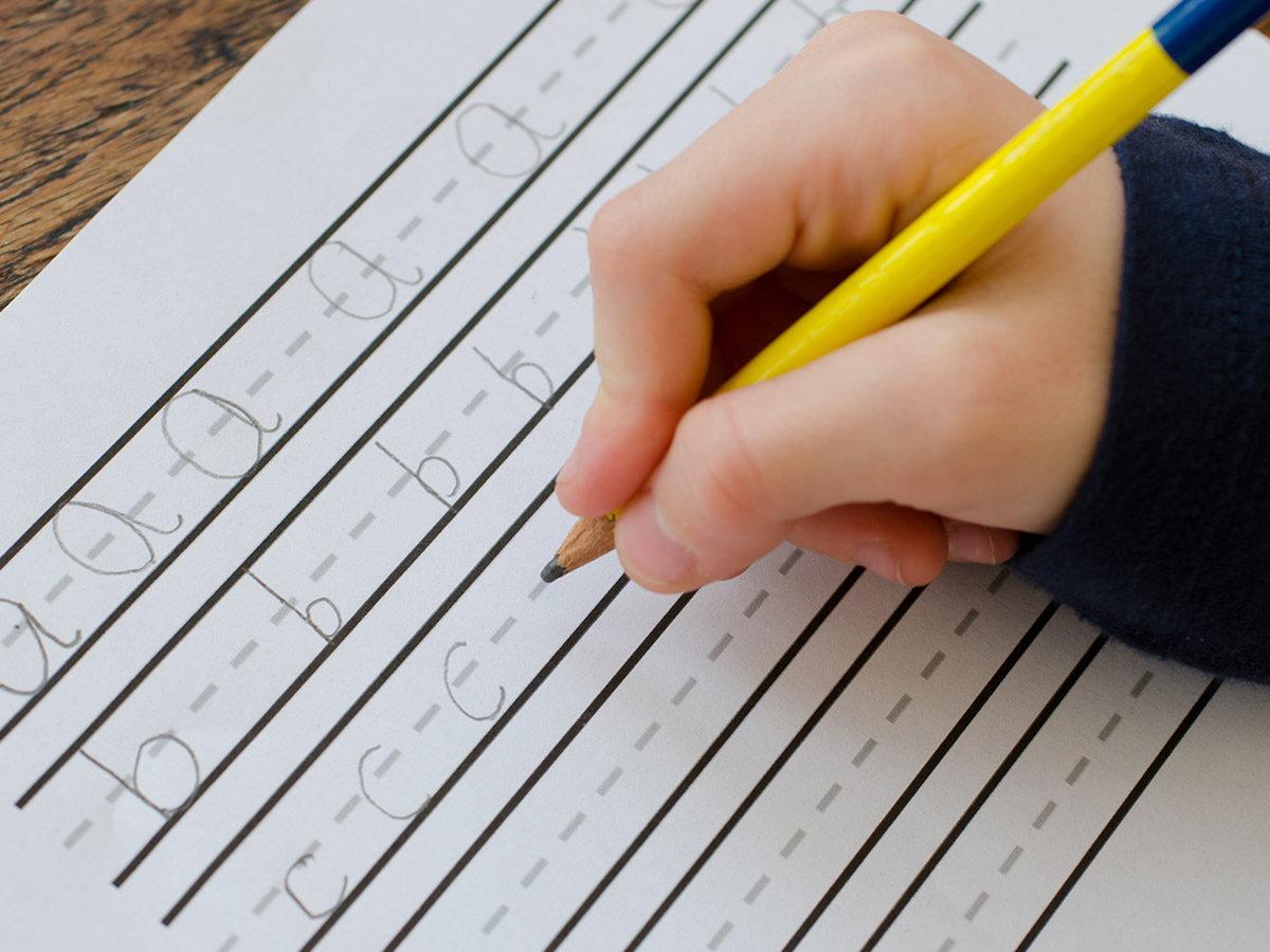 example child's handwriting