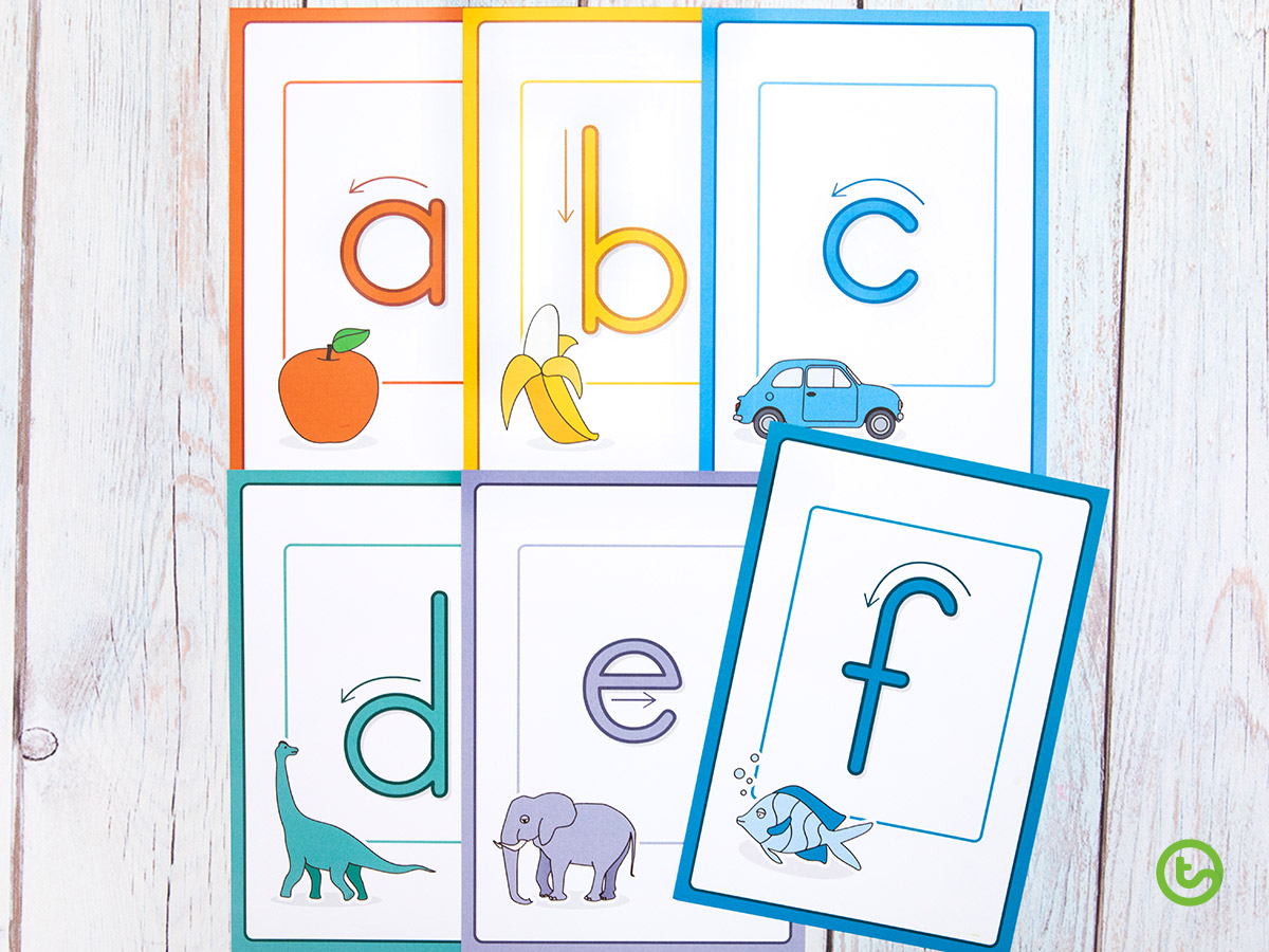 Letter formation posters for the classroom