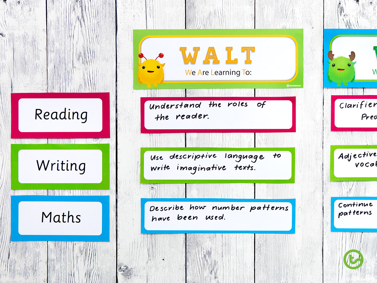 WALT and WILF posters for the classroom