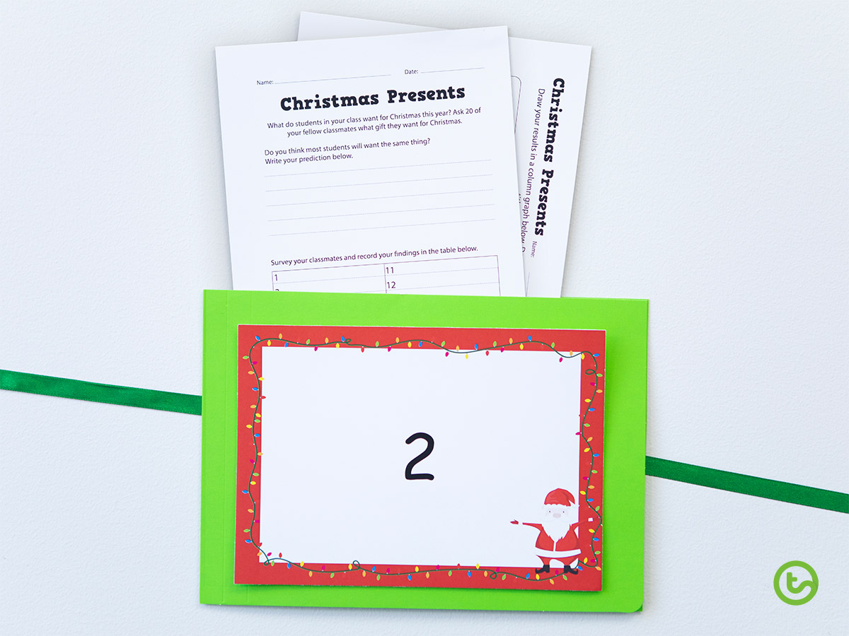 Classroom Advent Calendar - Graphing Activities
