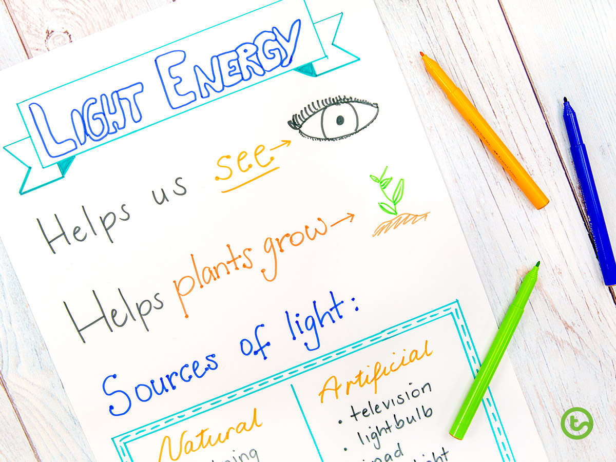 Anchor Chart on Light Energy