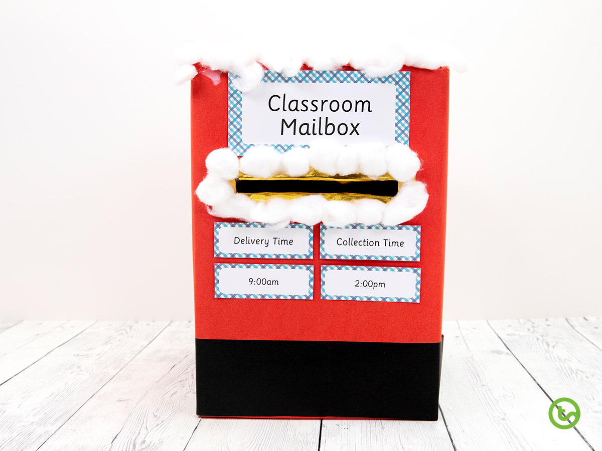a DIY holiday mailbox to deliver holiday cards.