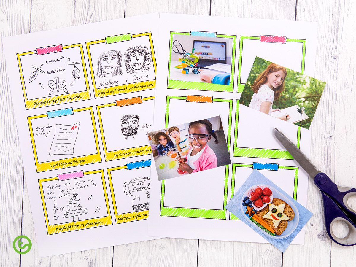 End of Year Activity - Snapshot photo frames