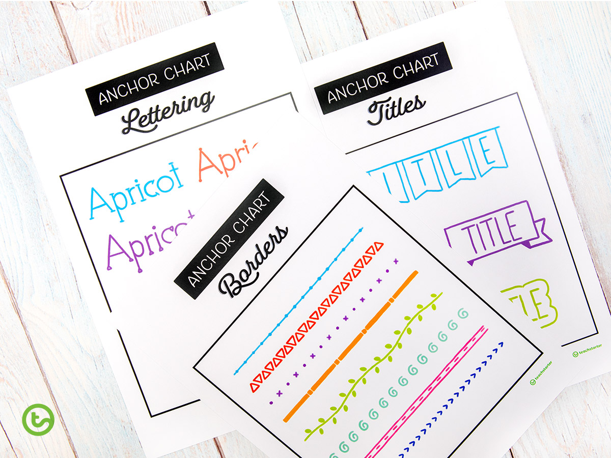 Anchor Charts Design Ideas