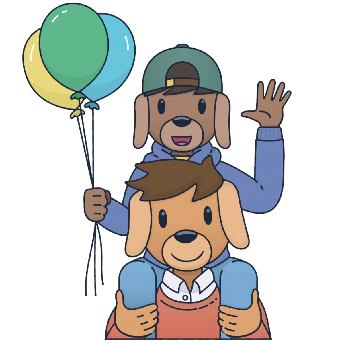 Dad and son having fun this Father's Day on the Teach Starter homepage