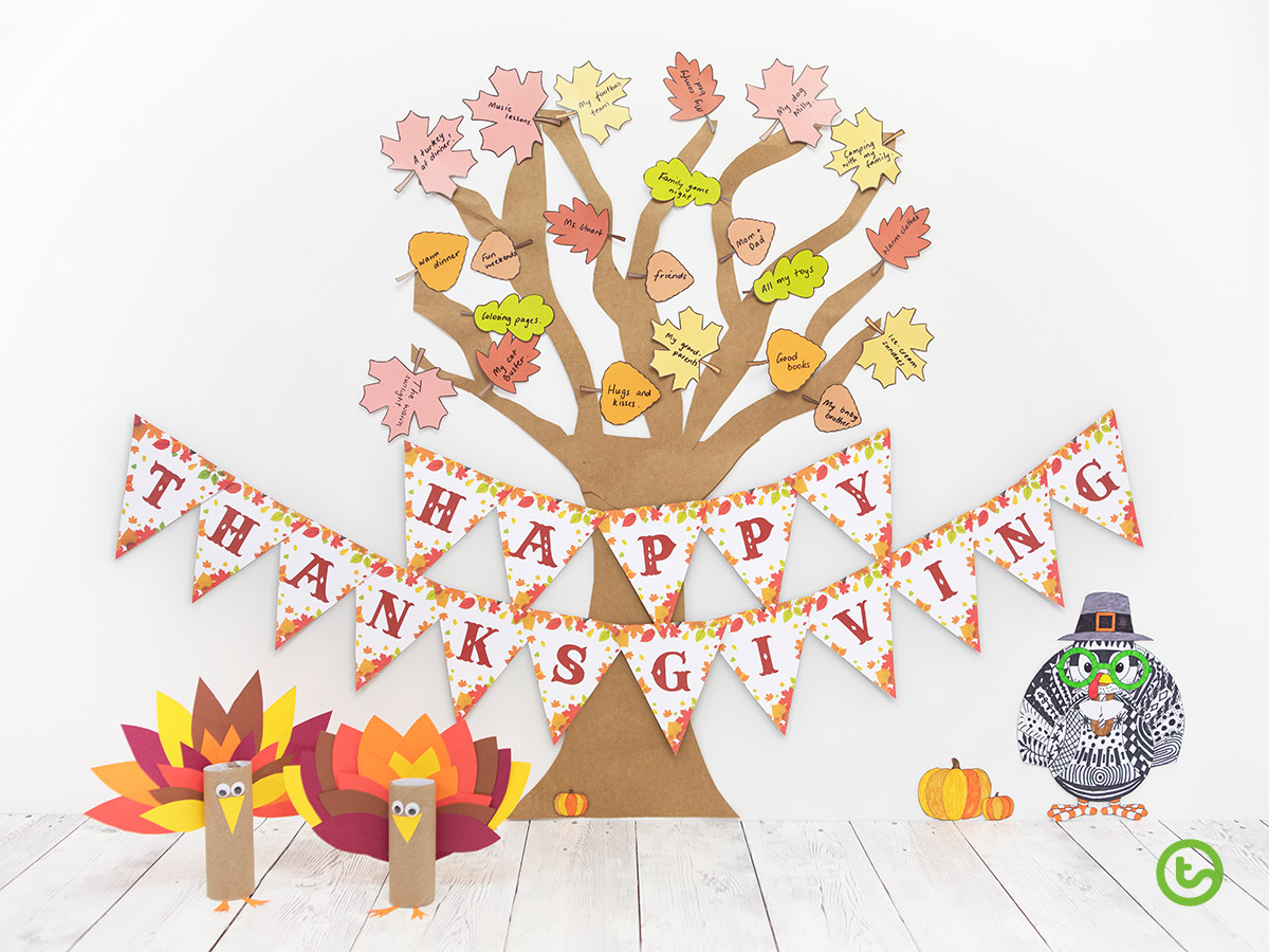 Thanksgiving Activities for the Classroom - Thanksgiving Tree