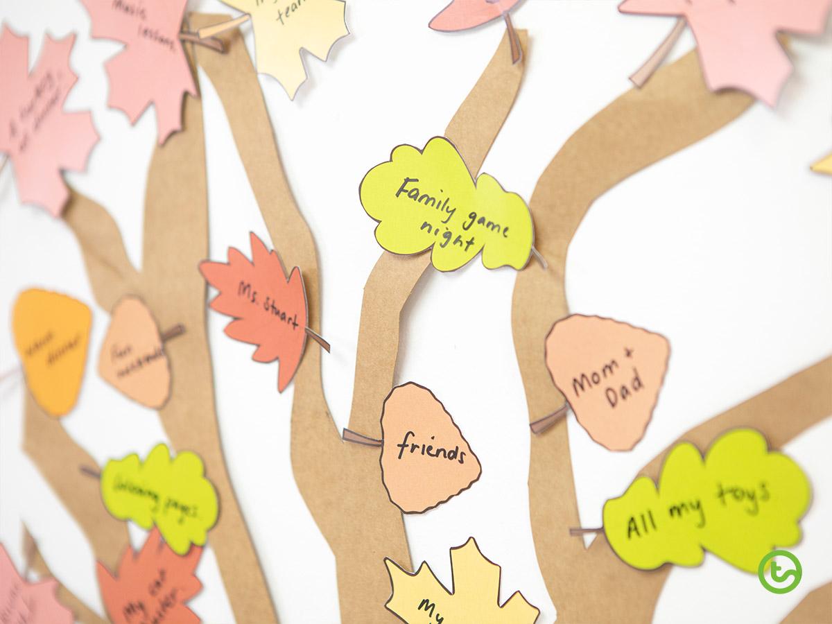 Thanksgiving Activities - Thankful Tree