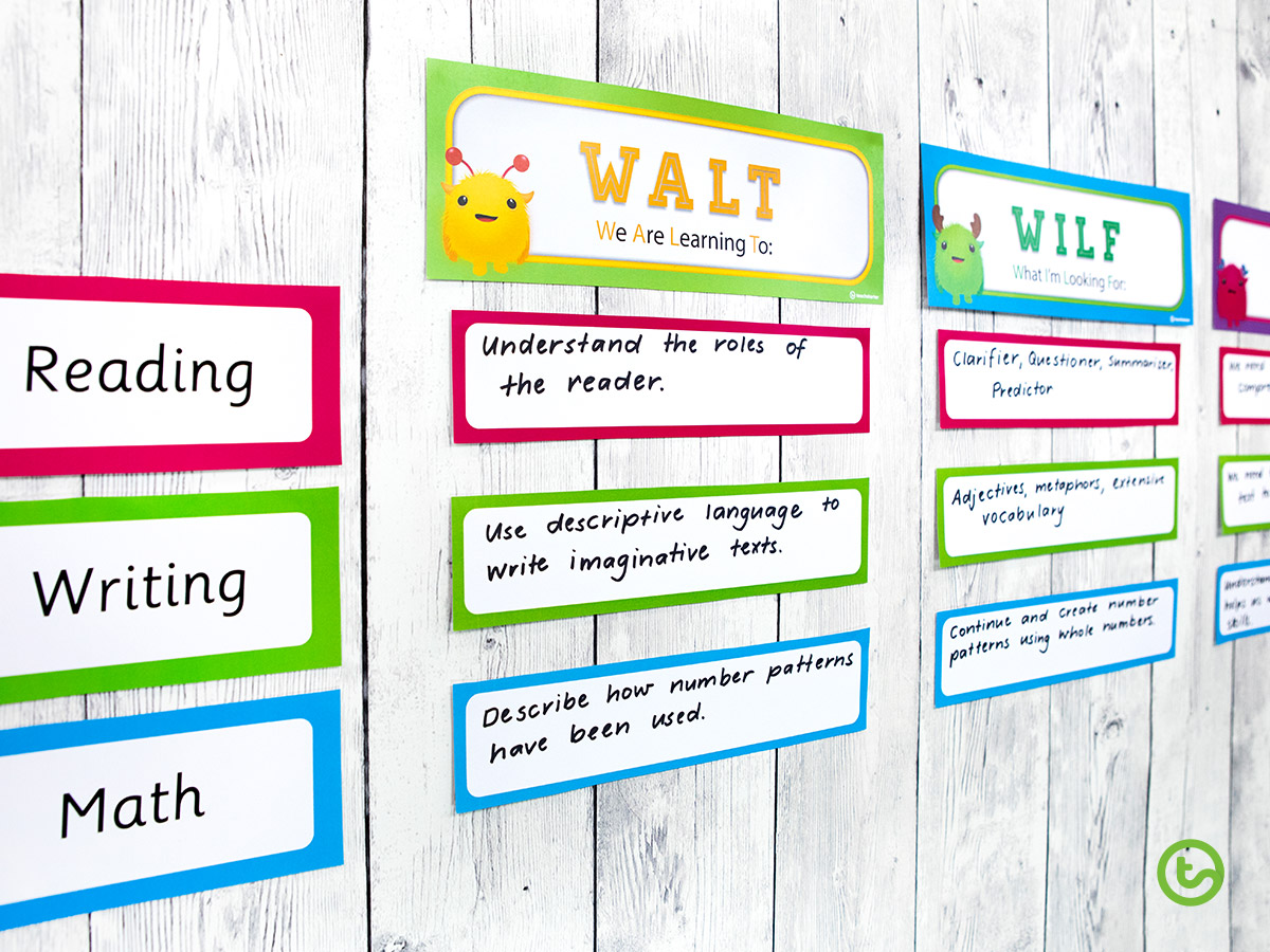 WALT and WILF classroom posters