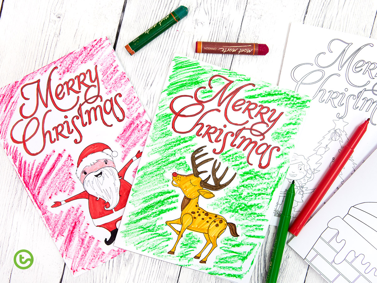 a selection of Christmas cards that your students will love.