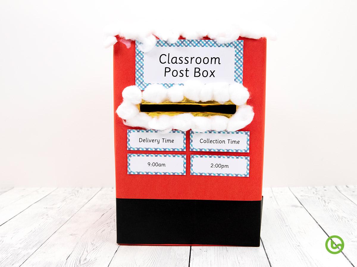 a DIY Christmas post box to deliver Christmas cards.