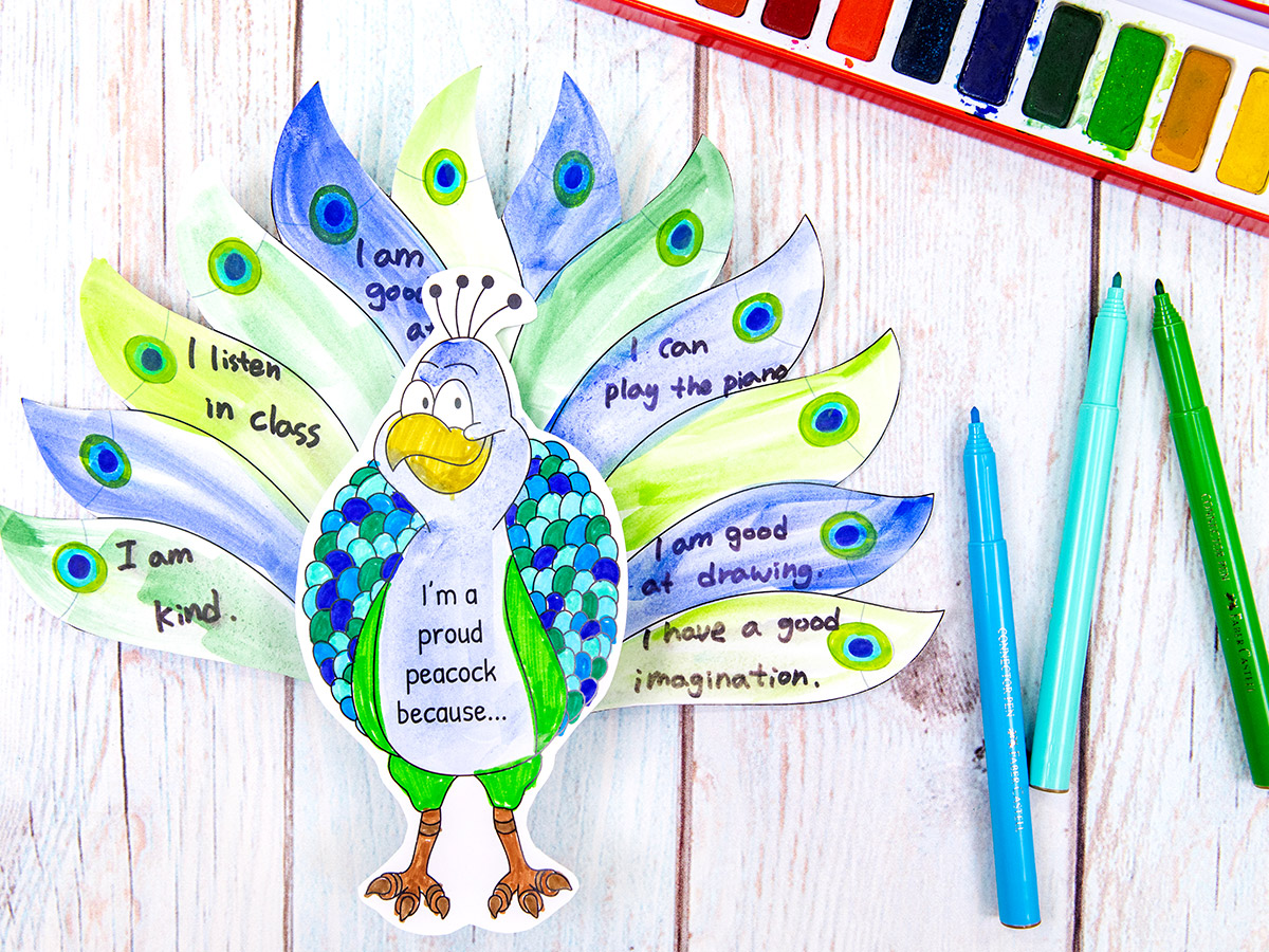 Proud Peacock Activity for Kids