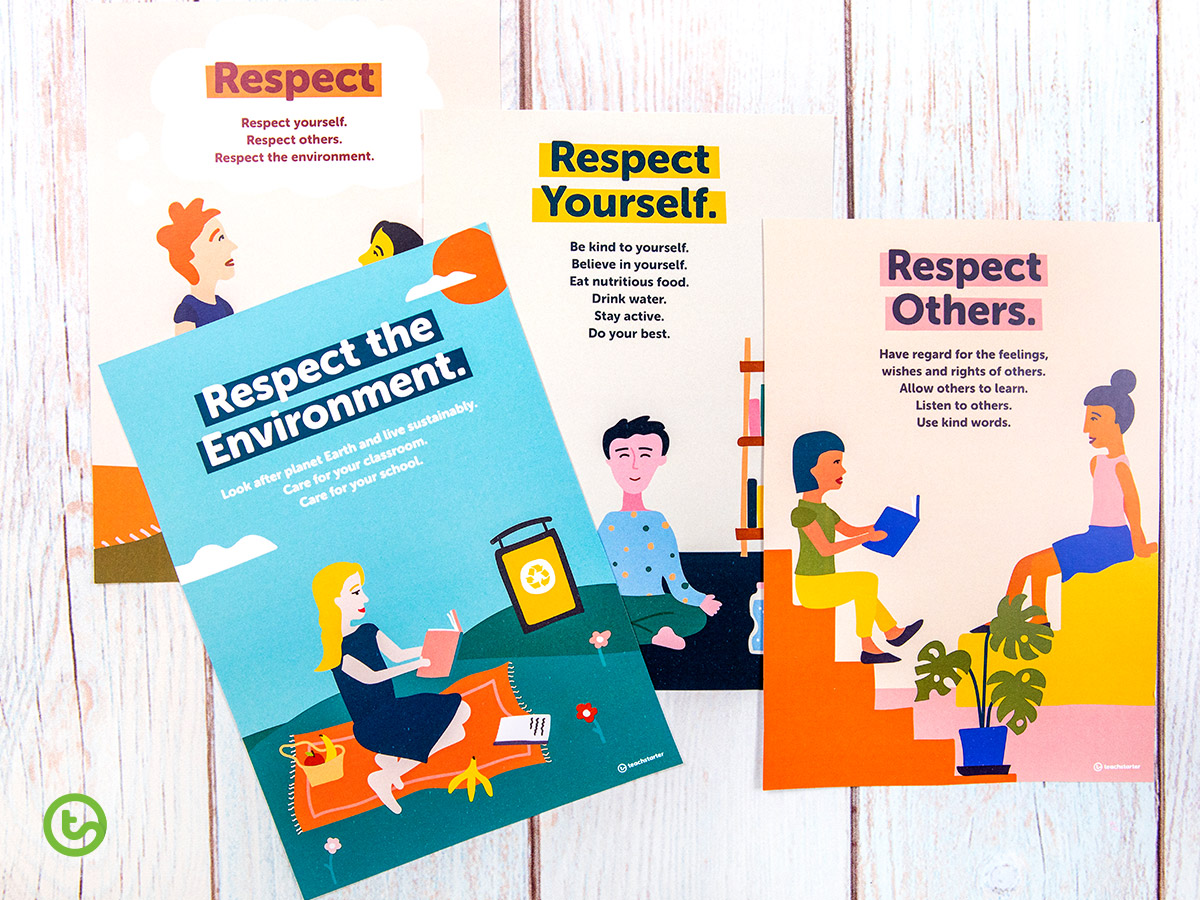 Respect posters for the classroom