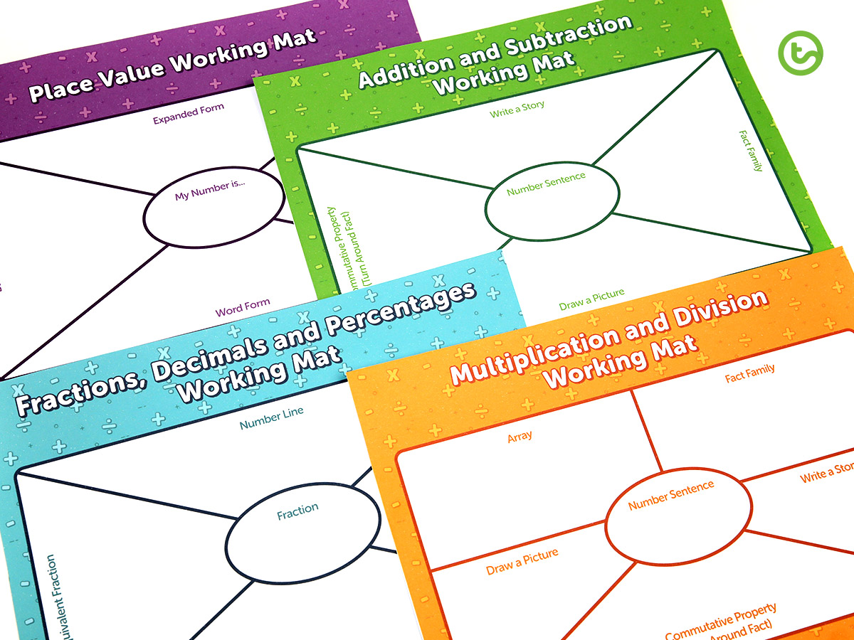 Numeracy Working Mats - Top Ten Downloaded Teaching Resources of 2019
