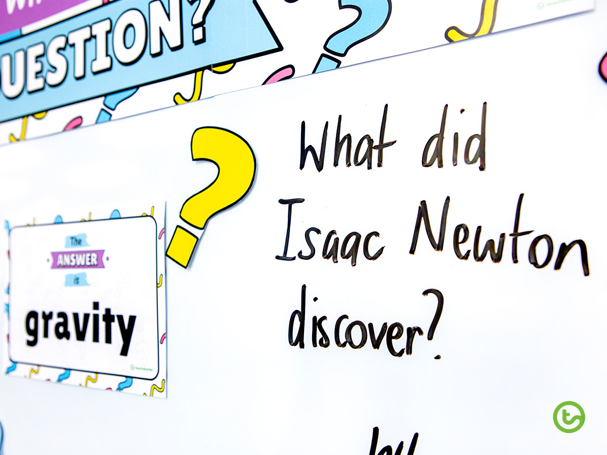 What's the Question? Interactive Wall Display - Student answers