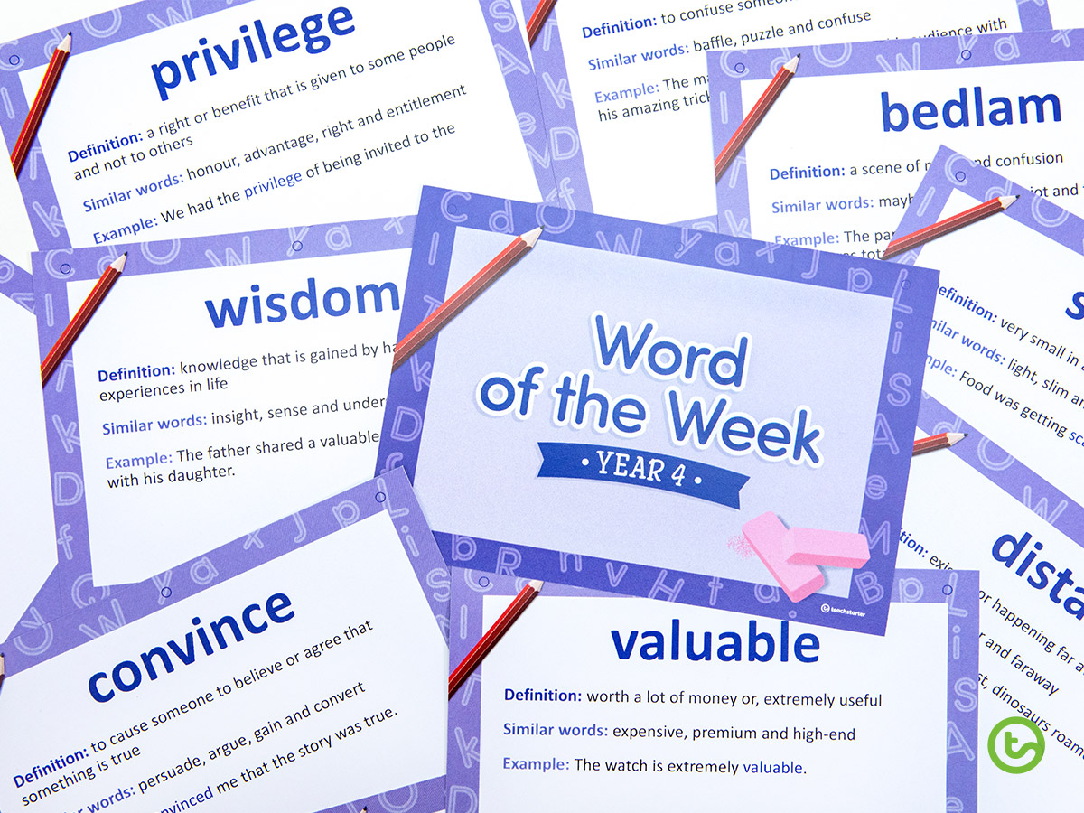 FREE Year 4 Back-to-School Resource Pack - Word of the Week