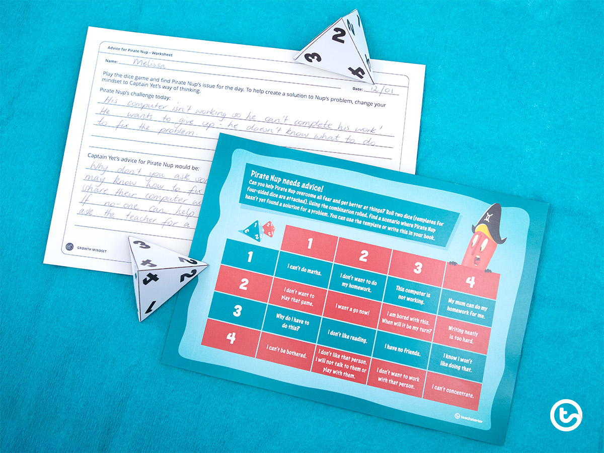 The Power of Captain Yet - Growth Mindset for Kids - Dice Game