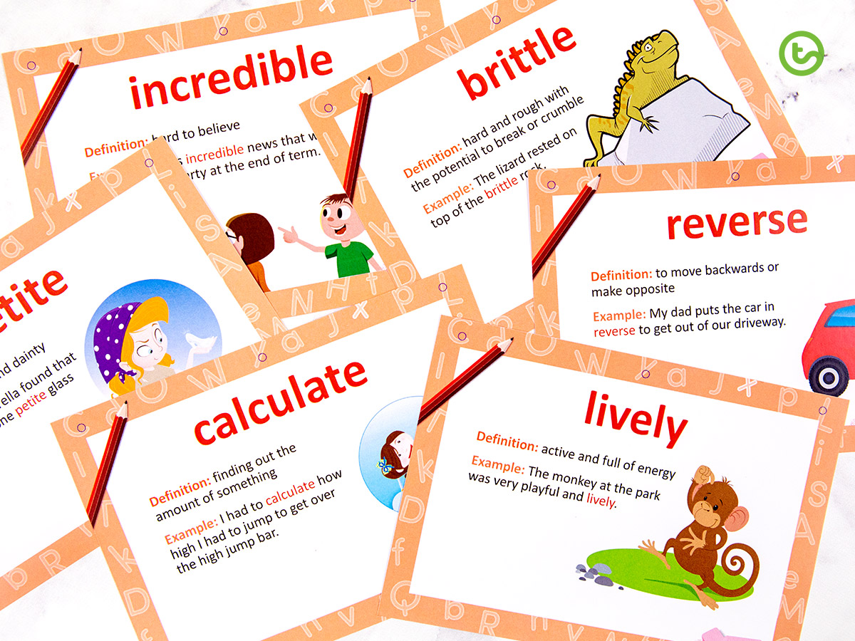 Word of the week resources for Year 1