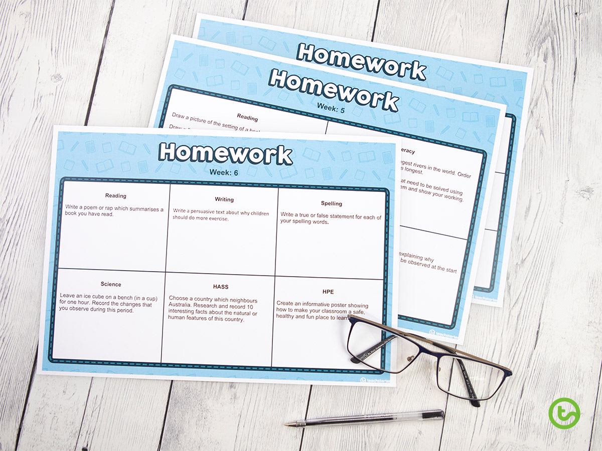 An editable matrix of over 100 homework activities linked to the Australian Curriculum!