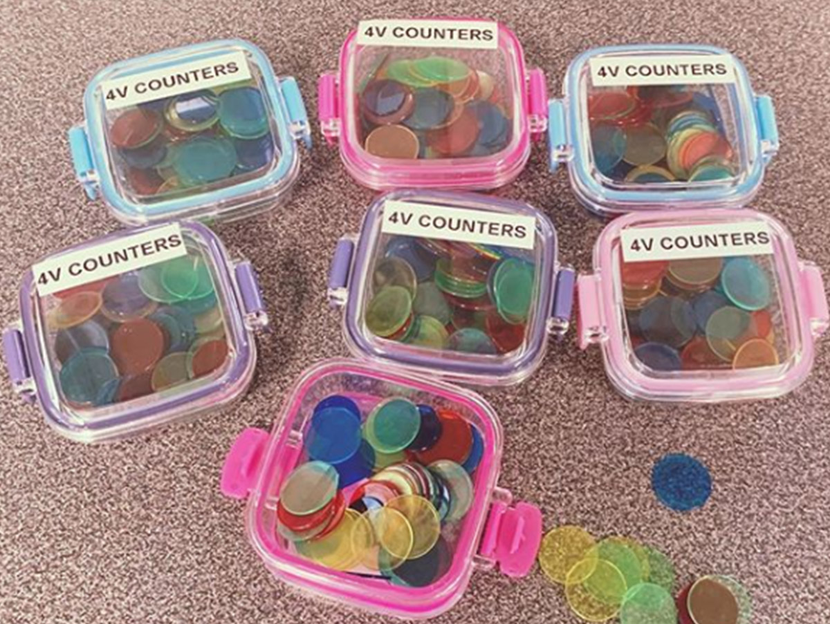 How to easily store counters in the classroom