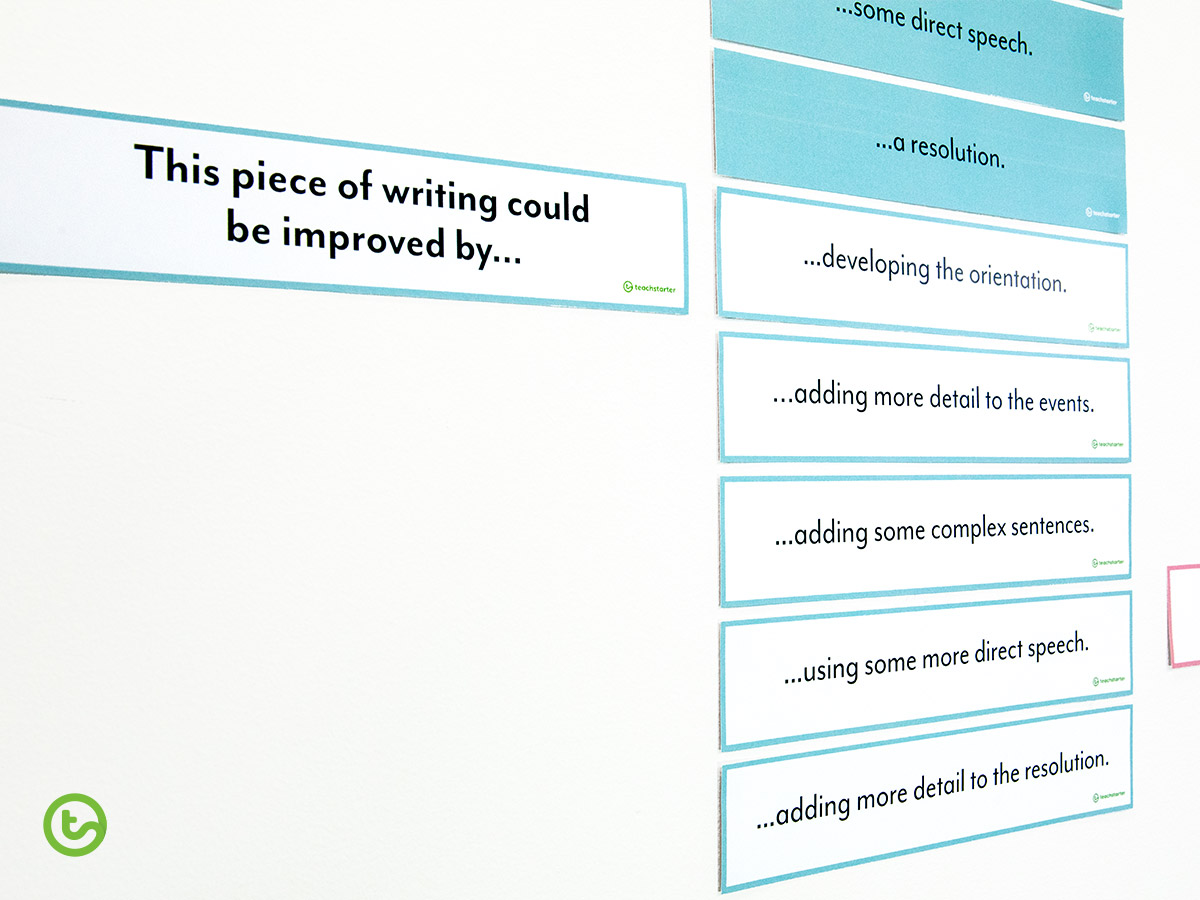 Use the narrative writing examples to set goals.