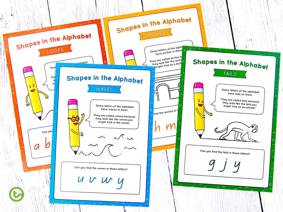 Shapes in the Alphabet Classroom Posters