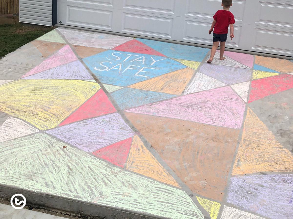 Share the love of sidealk chalk art!