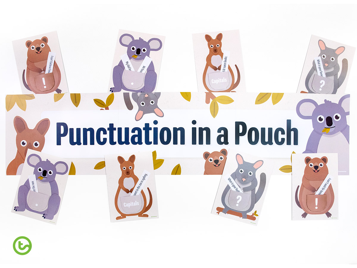 punctuation in a pouch little learners month teach starter