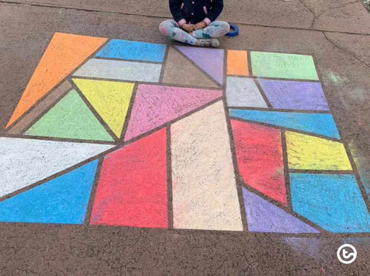 Sidwalk chalk art for kids