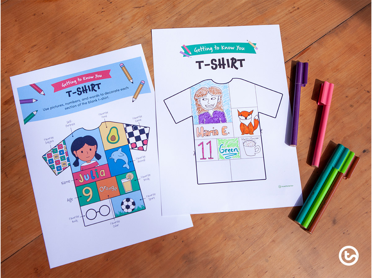 First Day Activities - Getting to Know You T-Shirt