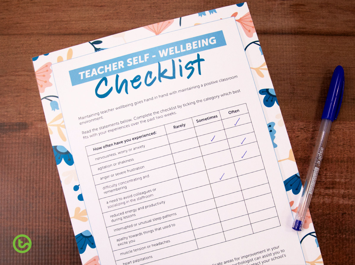 Avoid burn-out with a teacher well-being checklist