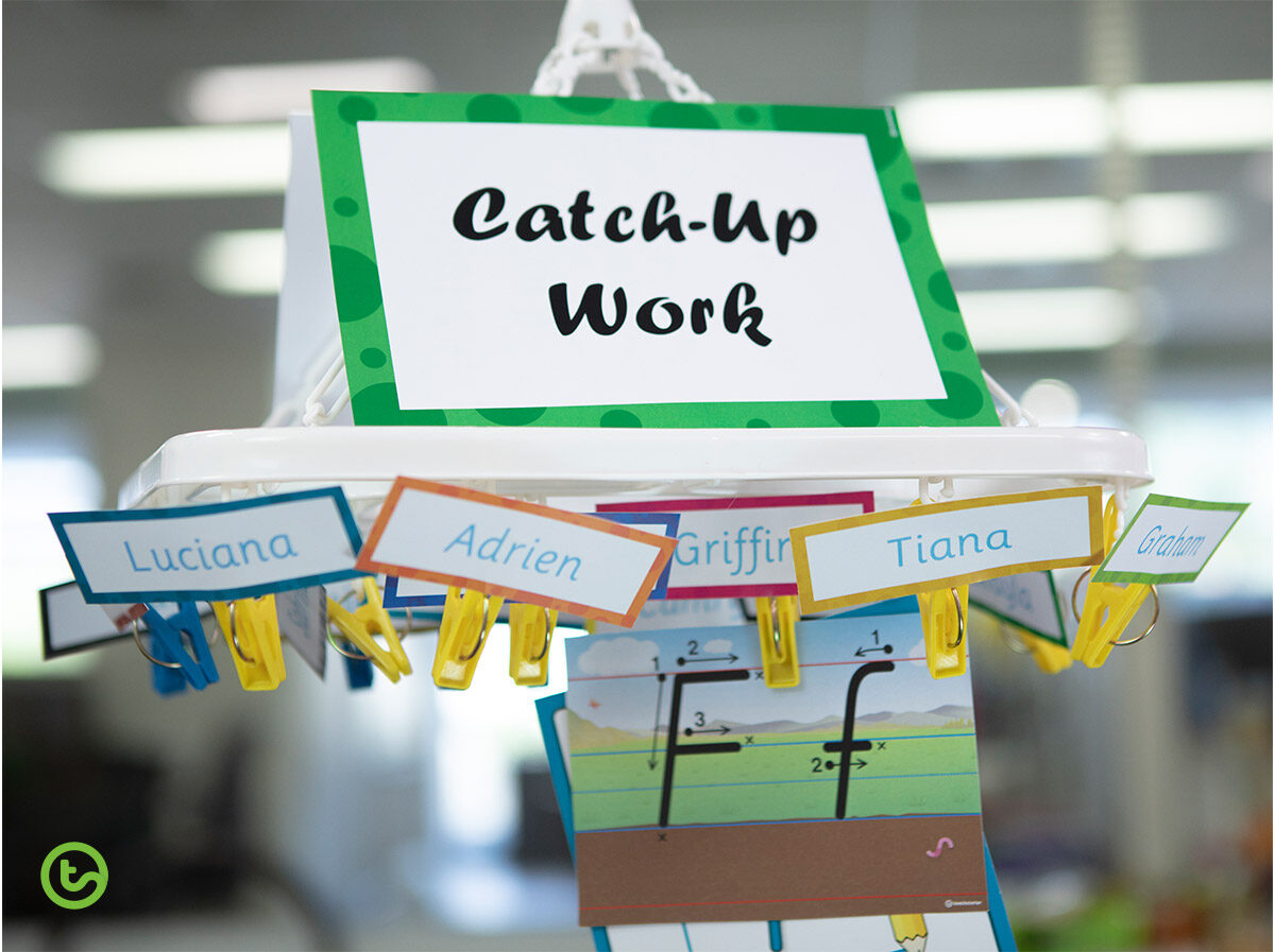 Catch-up work classroom hack