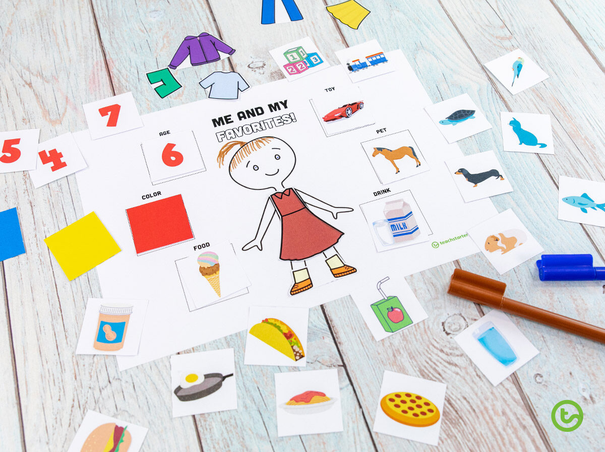 Getting to know you activity for little kids
