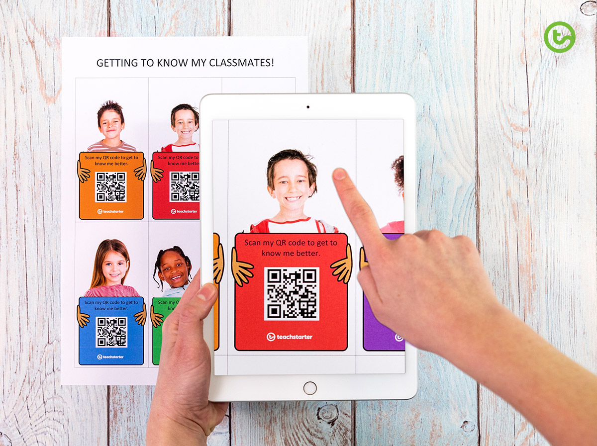 QR code getting to know you activity