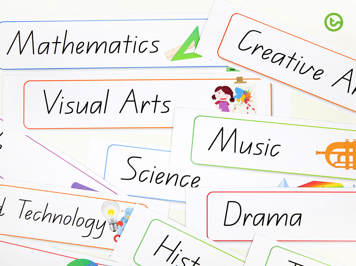 Visual timetable for the classroom